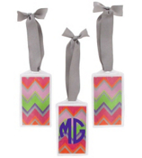 Rainbow Chevron Acrylic Luggage Tag #932