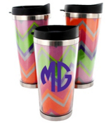Rainbow Chevron Stainless Steel Travel Tumbler #579