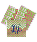 Pink and Green Chevron Mouse Pad #193