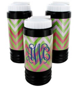 Pink and Green Chevron Sport Bottle with Hidden Compartment #574
