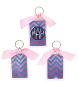 "Blue and Pink Chevron 3"" Acrylic Keytag #979"
