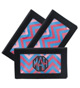 Blue and Pink Chevron Black Checkbook Cover #7465B