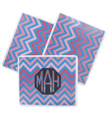 Blue and Pink Chevron Mouse Pad #193