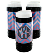Blue and Pink Chevron Sport Bottle with Hidden Compartment #574