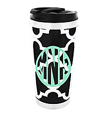 Black Moroccan Stainless Steel Travel Tumbler #579