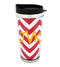 Chevron Stainless Steel Traveler Tumbler #579 *Choose Your Color