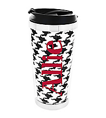 Houndstooth Stainless Steel Travel Tumbler #579