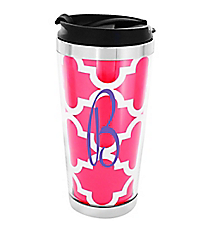 Hot Pink Moroccan Stainless Steel Travel Tumbler #579