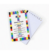 1 Dozen Colors of Faith Spiral Notepads #85/3688