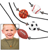 1 Dozen Resin Sport Ball Necklaces #24/1103