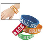 12 Baseball Big Band Bracelets #24/2461