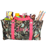 BNB Natural Camo Collapsible Haul-It-All Utility Basket #SN401-H/PINK