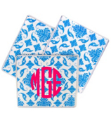 Bright Blue Vintage Damask Mouse Pad #193