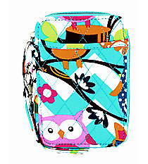 Aqua Chevron Owl Party Quilted Wristlet #AQL495-AQUA