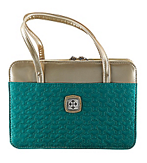 Turquoise and Gold Purse-Style Bible Cover #BBL513