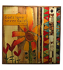 "12"" x 12"" Psalm 136:1 Wall Art #WBL006"