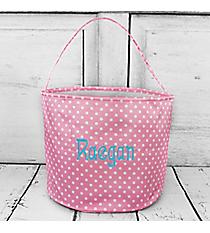 Pink and White Polka Dot Bucket Bag #6007-PINK