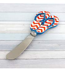Orange Chevron and Blue Flip Flop Spreader #60075