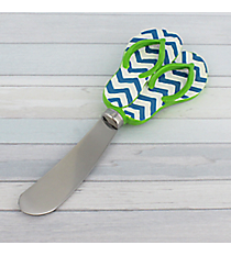 Blue Chevron and Green Flip Flop Spreader #60075