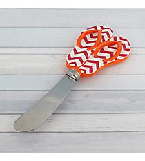Fuchsia Chevron and Orange Flip Flop Spreader #60075