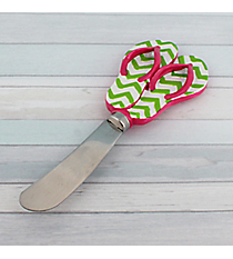 Green Chevron and Pink Flip Flop Spreader #60075