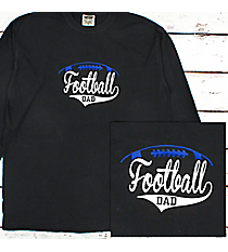 Football Dad Comfort Colors Long Sleeve T-Shirt #6014 *Personalize Your Text and Colors