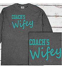 Coach's Wifey Comfort Colors Long Sleeve T-Shirt #6014 *Choose Your Colors
