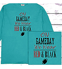 Gameday Comfort Colors Long Sleeve T-Shirt #6014 *Personalize Your Team Colors