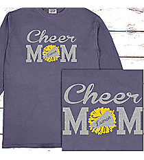 Cheer Mom Comfort Colors Long Sleeve T-Shirt #6014 *Personalize Name and Colors