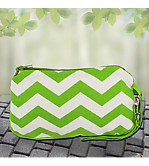 Lime Chevron Cotton Wristlet #60142-LIME