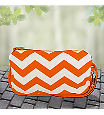 Orange Chevron Cotton Wristlet #60142-ORANGE