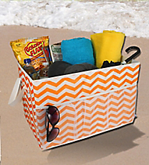 Orange Chevron Trunk Organizer #60158-ORANGE