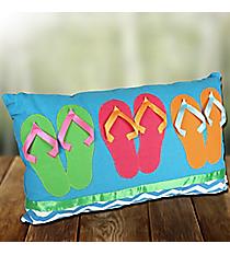 Turquoise Chevron Flip Flops Pillow #60165-TURQ