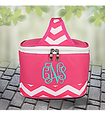 Fuchsia Chevron Mini Insulated Lunch Tote #60390-FUCHSIA