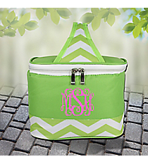Lime Chevron Mini Insulated Lunch Tote #60390-LIME