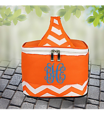 Orange Chevron Mini Insulated Lunch Tote #60390-ORANGE