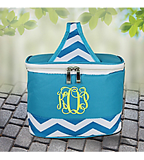 Turquoise Chevron Mini Insulated Lunch Tote #60390-TURQ