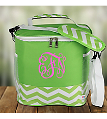 Lime Chevron Family Size Insulated Tote #60394-LIME