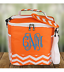 Orange Chevron Family Size Insulated Tote #60394-ORANGE