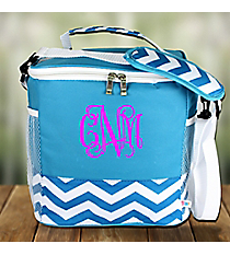 Turquoise Chevron Family Size Insulated Tote #60394-TURQ