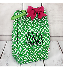 Green Moroccan Floral Small Insulated Lunch Bag #60506-GREEN