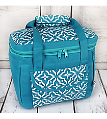 Blue Moroccan Floral Insulated Lunch Tote #60510-BLUE