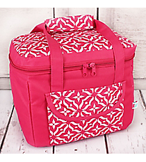 Pink Moroccan Floral Insulated Lunch Tote #60510-PINK
