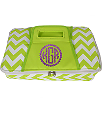 Lime Chevron Print Rectangular Insulated Casserole Tote #60565-LIME