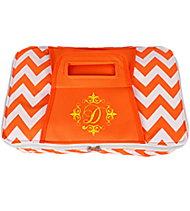 Orange Chevron Print Rectangular Insulated Casserole Tote #60565-ORANGE