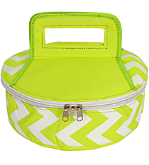 Lime Chevron Round Insulated Casserole Tote #60630-LIME