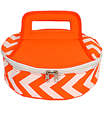 Orange Chevron Round Insulated Casserole Tote #60630-ORG