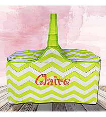 Lime Chevron Insulated Basket with Lid #60686-LIME