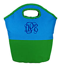 Blue and Green Colorblock Insulated Lunch Tote #60787-BLUE/GRN