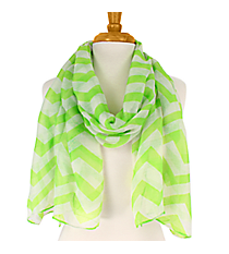 Lime Chevron Scarf #60856-LIME